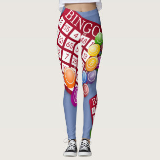 Bingo Cards Design Print Leggings
