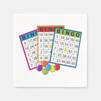 Bingo Cards Disposable Napkin