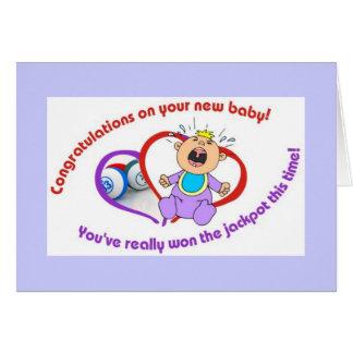 Bingo cards - new baby