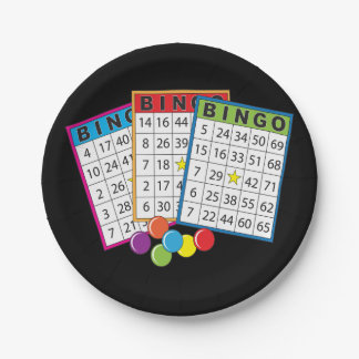 Bingo Cards Paper Plates