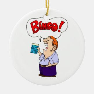 Bingo Ceramic Ornament
