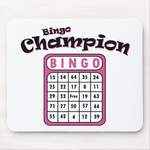 Bingo Champion Mouse Pads