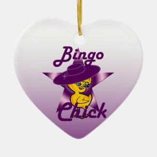 Bingo Chick #9 Ceramic Ornament