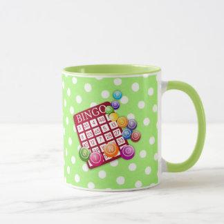 Bingo - colorful bingo card and markers mug