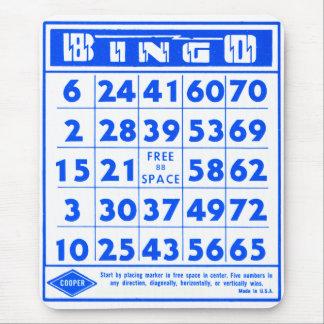 Bingo Game Card Retro Vintage Kitsch Mouse Pad