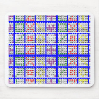 Bingo Game Patterns Large Grid Mouse Pad