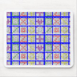 Bingo Game Patterns Large Grid Mousepads