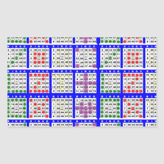 Bingo Game Patterns Large Grid Sticker