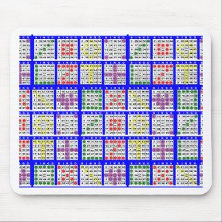 Bingo Game Patterns Large Mouse Pad