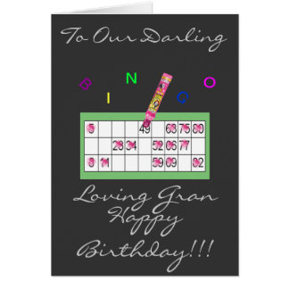 BINGO GRAN HAPPY BIRTHDAY CARD