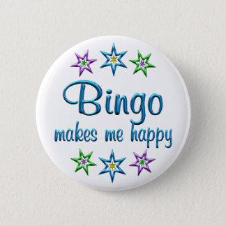 Bingo Happy 2 Inch Round Button