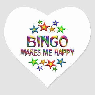 Bingo Happy Heart Sticker