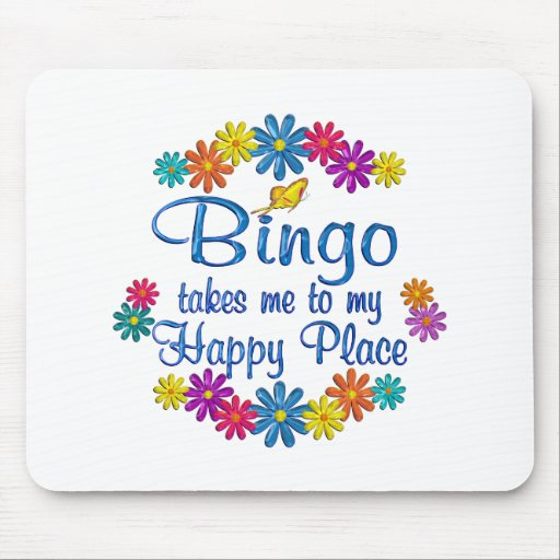 Bingo Happy Place Mouse Pads