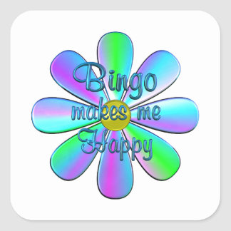 Bingo Happy Square Sticker