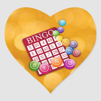 Bingo Heart Sticker