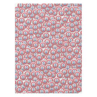 Bingo Hopper Balls in Random Tablecloth