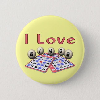 Bingo: I Love Bingo 2 Inch Round Button