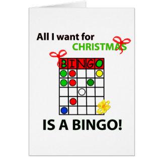 BINGO I want a bingo  for Christmas Card