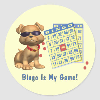 Bingo Is My Game! Classic Round Sticker