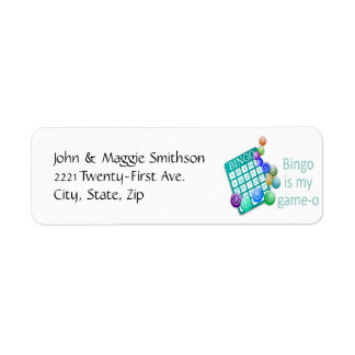 Bingo is my Game-o Funny Quote Return Address Label