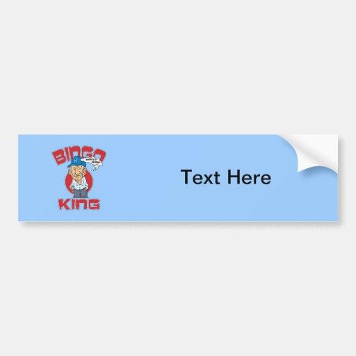 Bingo King Bumper Sticker