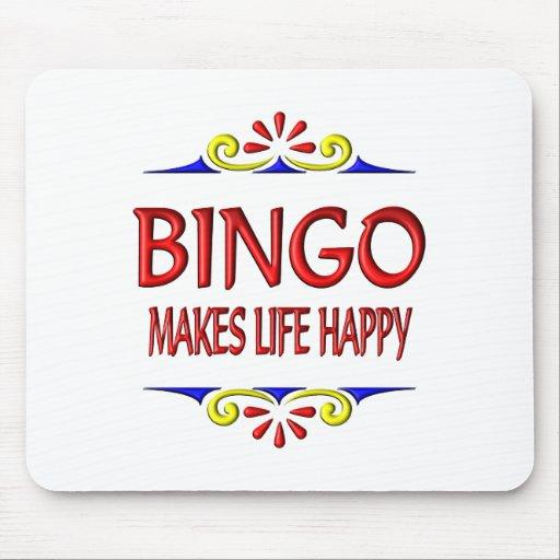 Bingo Makes Life Happy Mousepad