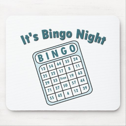 Bingo Night Card Mouse Pads