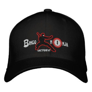BINGO NINJA flexfit wool cap with URL Embroidered Baseball Cap