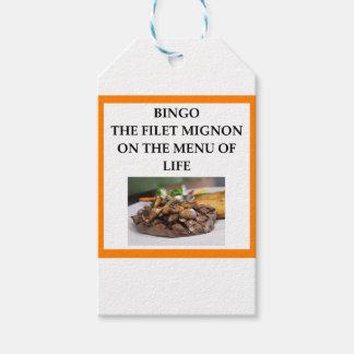 BINGO PACK OF GIFT TAGS