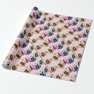 Bingo Pale Pink Wrapping Paper