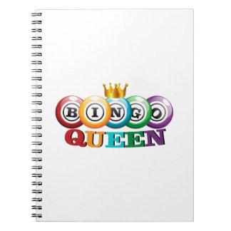 Bingo Queen Bingo Player Gift Funny Notebooks