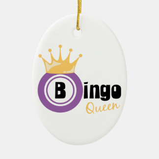 Bingo Queen Ceramic Ornament
