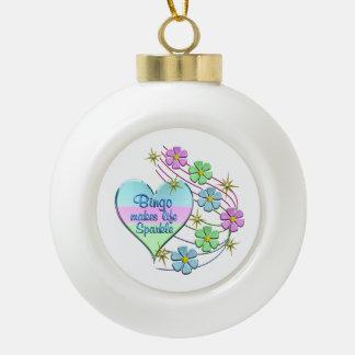 Bingo Sparkles Ceramic Ball Christmas Ornament