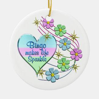 Bingo Sparkles Ceramic Ornament
