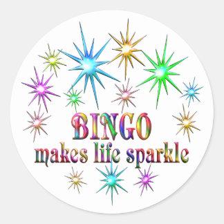Bingo Sparkles Classic Round Sticker