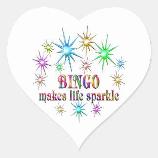 Bingo Sparkles Heart Sticker