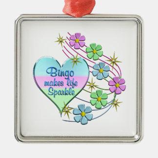 Bingo Sparkles Metal Ornament