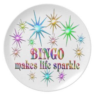 Bingo Sparkles Plate