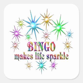 Bingo Sparkles Square Sticker