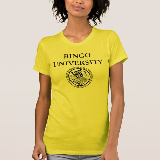 Bingo University official seal logo ladies shirt