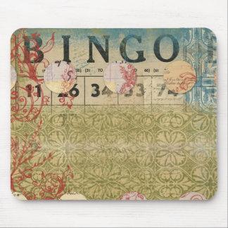 Bingo Vintage Collage ARt Mouse Pads