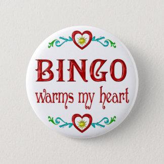 BINGO Warms My Heart 2 Inch Round Button