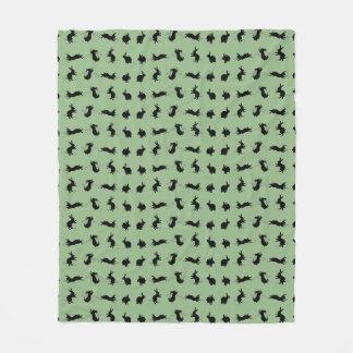 Binky Bunnies Fleece Blanket (Light Green)