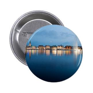 Binnenalster at Hamburg 2 Inch Round Button