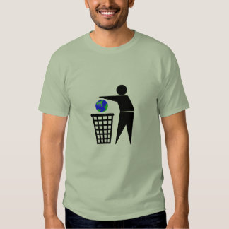 Binning the Earth Environmental Issues t-shirt