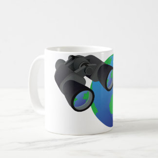 Binoculars And Earth Mug