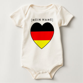 Bio Babybody name heart Germany to the WM 2010 Baby Bodysuit