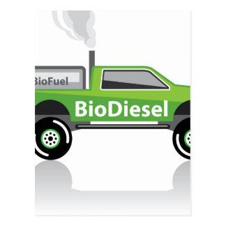 Bio diesel Pickup truck Postcard