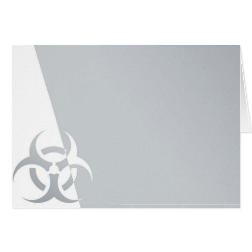 Bio-hazard biohazard atomic nuclear graphic greeting cards
