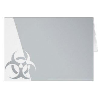 Bio-hazard biohazard atomic nuclear graphic greeting card